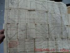 1901 Rand McNally Pocket Folding Map of Nebraska with Railroad Depots Antique