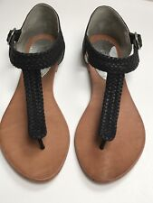 Marcus B Sandals - Size 37 - All Leather - Black - Excellent Condition