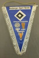 80er Jahre Vintage HSV Fan-Wimpel in Schutzhülle / Hamburger SV Fanartikel