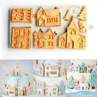 Christmas Tree House Fondant Cake 3D Silicone Mold Chocolate Sugarcraft Mould