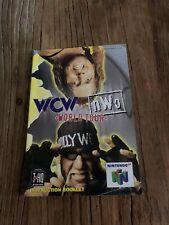 Wcw Vs Nwo World Tour Nintendo 64 Instruction Booklet Only