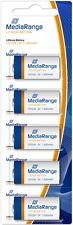 5 Mediarange CR123A / CR17345 Lithium Batterien im 5er Blister