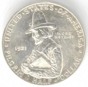 1921 Pilgrim Commemorative 50 Cent Half Dollar Silver US Coin High Grade