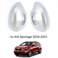 FIT FOR KIA SPORTAGE 2011- DOOR SIDE WING MIRROR CHROME COVER REAR VIEW CAP TRIM