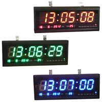 Digital Large Big Digits LED Wall Desk Clock with Calendar Temperature