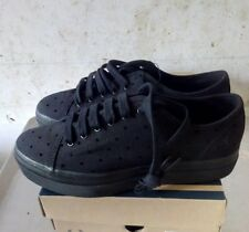 FRED PERRY PHOENIX PLATAFORM POLKA DOT TWI BLACK 37 EU NEW OG BOX