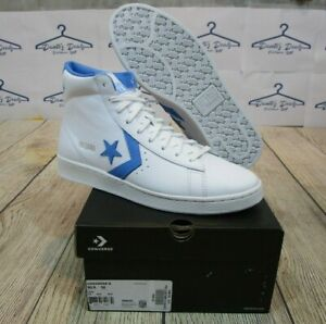 BRAND NEW Converse Pro Leather Mid White Coast Blue UNC Men's Basketball Shoes