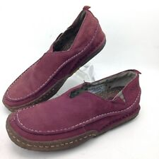702dd349d4 Simple Womens Brick Red Pebbled Leather Slip On Casual Walking Shoes Size 9