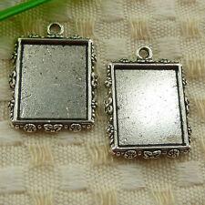 Free Ship 34 pieces tibetan silver frame charms 25x19mm #4508