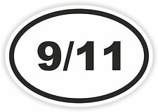 9/11 Oval Sticker for Bumper Bike Helmet Laptop Skateboard Scooter Car PC 9-11