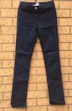 SASS & BIDE Dimanche Women Jeans Sz 26 Dark Blue Wash Mid Rise Button Zip