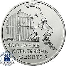 Deutschland 10 Euro Silber 2009 bfr 400 Jahre Keplersche Gesetze in Münzkapsel