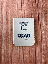 Ps1 Ps2 Memory Card Titan Concepts PLAYSTATION 1 mega computer video games