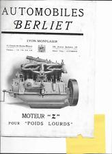 Berliet  moteur Z   prospekt catalogue