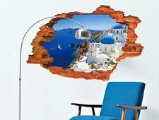3d Scenery Mediterranean Sea Home Room Removable Wall Sticker Decal Decoration