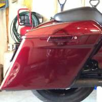 "Mysterious Red Sunglo  4.5"" Stretch Extended Saddlebags for 14-19 Harley Touring"