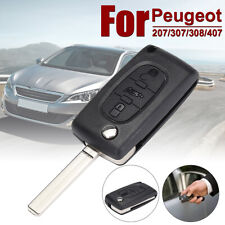 3 Button Remote Flip Key Case Shell Blade For Peugeot 207 307 308 407 607 CE0523