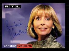 Christine Schuberth RTL Autogrammkarte Original Signiert # BC 91009