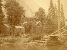 HUTCHINGS HOTEL & SENTINEL ROCK YO SEMITE VALLEY CALIF J.P SOULE STEREOVIEW 1870
