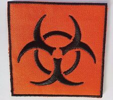 Biohazard symbol Logo Iron on patch Zombie Sew on transfer Embroidered New
