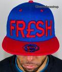 Fresh Snapback, Unisex Visera Plana Gorra Ajustada, De Béisbol Hip Hop Royal