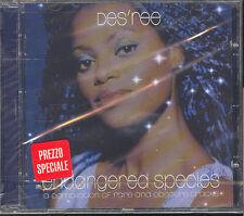 DES'REE - ENDANGERED SPECIES - CD (NUOVO SIGILLATO)