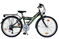 Delta Kinderfahrrad 24 Zoll Fahrrad 18 Gang Shimano Cityfahrrad Stvo-schwarz 45