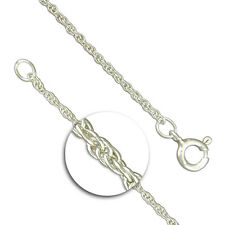 14in Medium Prince of wales rope silver chain
