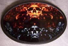 Metal TATTOO belt buckle Halloween Ornament Skull NEW