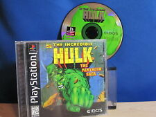 PlayStation PS1 The Incredible Hulk Complete Video Game