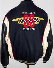 Vintage 92 Stussy First 1st Tribe Letterman Leather Varsity SS Coupe Jacket XL