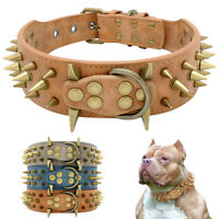 5 cm Hundehalsband Breit Nietenhalsband Lederhalsband Stachelhalsbänder Großer