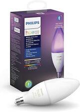 Philips Hue White & Color Ambiance LED E12 Candle Smart Light Bulb