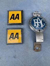 Vintage AA RAC Car Club Badges