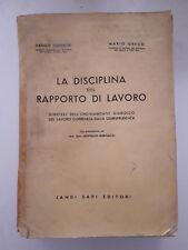 La disciplina del Rapporto di Lavoro Guerrieri Greco 1963