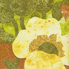 Mid Century Original Green Orange Floral Vintage 60s 70s Wallpaper