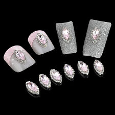 10 Pcs Decoration Jewelry 3d Glitter Rhinestone Rose Bud Nail Art Manicure DIY