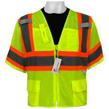 Safety vest class 3 ANSI Surveyor, Sz: 4XL, Hi visibility, GLO-127-4XL