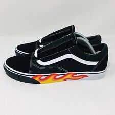 *NEW* Vans Old Skool Flame Cut Out (Men's Size 9.5) Skate Sneakers Black White