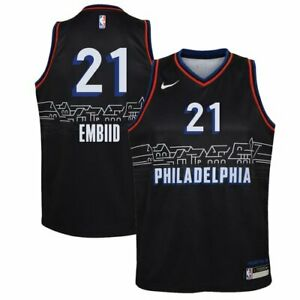 Men Philadelphia Joel Embiid Royal 2021 Swingman Jersey - City Edition #21
