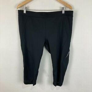 Columbia Womens Leggings Shorts Size XL Black Elastic Waist Stretch Fitted