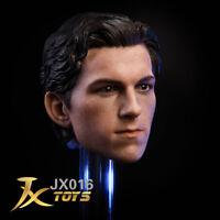 "1/6 JXtoys Spiderman Tom Holland  Head Sculpt Model F 12"" Male Action Figure"