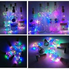 Wine Bottle Lights with Cork, Solar Powered LED Cork Shape Silver Copper Wire