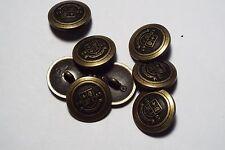 8pc 20mm Francese Ispirato Metallo Oro Antico Blazer cappotto cardigan pulsante 2792