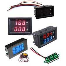 DC 100V 10A Voltmeter Ammeter LED Digital Volt Meter Gauge New Blue&Red Red&Red