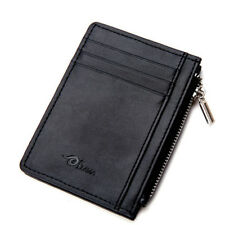 Mens Soft Leather Wallet Slim Money Clip Credit Card Coin Holder Small Men Purse