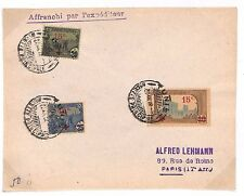 C119 1918 France Colonies TUNISIA Surcharge Issues *RED CROSS* Fine Cover Paris