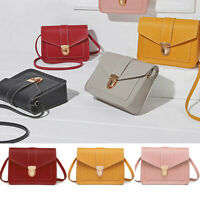 Women Small Shoulder Bag PU Leather Envelope Crossbody Messenger Handbag Purse