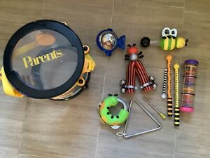 bee bop band drum and lots of instruments toddler baby musical instruments