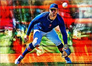 2021 Pete Alonso New York Mets 2/25 Art ACEO Sketch Print Card By:Q